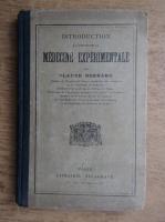 Anticariat: Claude Bernard - Medicine experimentale (1924)