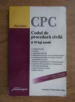 Anticariat: Codul de procedura civila si 10 legi uzuale