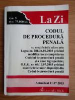 Anticariat: Codul de procedura penala, 2003