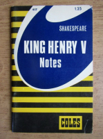 Anticariat: Coles Notes - Shakespeare. King Henry V. Notes