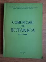 Comunicari de botanica 1957-1959
