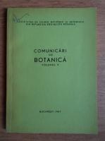 Anticariat: Comunicari de botanica (volumul 5)