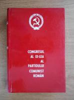 Congresul al IX-lea al Partidului Comunist Roman. 19-24 iulie 1965