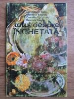 Anticariat: Constantin Banu, Berzea Marilena - Totul despre inghetata