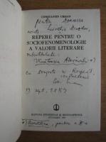 Anticariat: Constantin Crisan - Repede pentru o sociofenomenologie a valorii literare (cu autograful autorului)