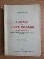 Anticariat: Constantin Loghin - Chestiuni de limba romana (1943)