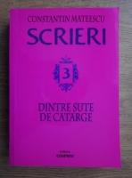Constantin Mateescu - Scrieri. Dintre sute de catarge (volumul 3)