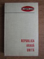 Constantin Sirbu - Republica Araba Unita