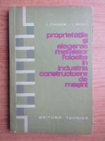 Constantin Vasile - Proprietatile si alegerea metalelor folosite in industria constructoare de masini