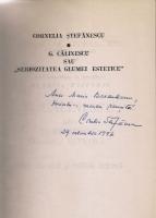 Anticariat: Cornelia Stefanescu - G. Calinescu sau seriozitatea glumei estetice. Intre document si realitate fictionala (cu autograful autoarei)