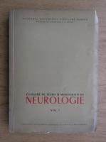 Culegere de studii si monografii de neurologie (volumul 1)