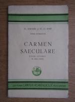 D. Anghel, O. Iosif - Carmen Saeculare. Poem istoric in doua parti (1929)