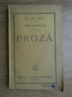 D. Anghel - Opere complete, proza (1924)