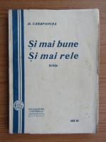 Anticariat: D. Carapancea - Si mai bune si mai rele (1919)