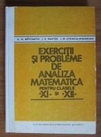 Anticariat: D.M. Batinetu - Exercitii si probleme de analiza matematica pentru clasele a 11-a si a 12-a