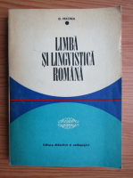 Anticariat: D. Macrea - Limba si lingvistica romana