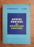 Anticariat: D. Marinescu - Avutul obstesc al unitatilor sanitare