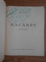 Anticariat: D. Missir - Macabre. Poeme (1942, cu autograful autorului)