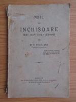 Anticariat: D. N. Burileanu - Note din inchisoare subt ocupatiunea germana (1919)