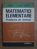 Dan Branzei, T. Precupanu, N. Papaghiuc - Matematici elementare. Probleme de sinteza