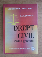Anticariat: Dan Cornoiu - Drept civil, partea generala