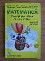 Anticariat: Dana Radu, Rozica Stefan - Matematica. Exercitii si probleme pentru clasa a VII-a, semestrul I
