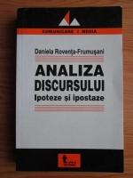 Daniela Roventa-Frumusani - Analiza discursului. Ipoteze si ipostaze