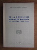 Anticariat: De la theologie orthodoxe Roumaine des origines a nos jours