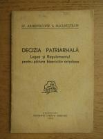 Decizia patriarhala. Legea si regulamentul pentru pictura bisericilor ortodoxe (1943)