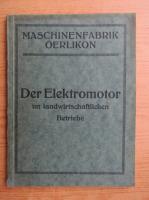 Anticariat: Der Elektromotor im landwirtschaftlichen (1934)
