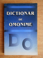 Anticariat: Dictionar de omonime
