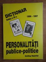 Anticariat: Dictionar de personalitati publice-politice 1996-1997