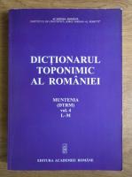 Dictionarul toponimic al Romaniei (volumul 4)