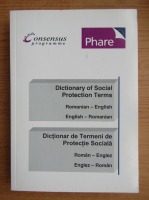 Anticariat: Dictionary of social protection terms romanian-english, english-romanian