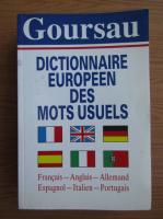 Anticariat: Dictionnaire Europeen des mots usules