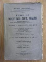 Anticariat: Dimitrie Alexandresco - Principiile dreptului civil roman (volumul 4, 1926)