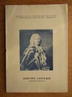 Dimitrie Cantemir, biografie selectiva