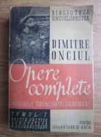 Anticariat: Dimitrie Onciul - Opere complete. Originile Principatelor Romane (volumul 1, 1946)
