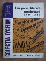 Anticariat: Din presa literara romaneasca 1918-1944