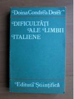 Doinea Condrea Derer - Dificultati ale limbii italiene