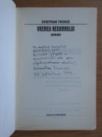 Anticariat: Dumitran Frunza - Vremea nesomnului (cu autograful si dedicatia autorului pentru Balogh Jozsef)