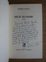Anticariat: Dumitru Matala - Efecte secundare (cu autograful autorului)