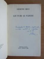 Dumitru Micu - Lecturi si pareri (cu autografului autorului)