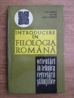 Anticariat: Elena Barborica, Mirela Teodorescu, Liviu Onu - Introducere in filologia romana. Orientari in tehnica cercetarii stiintifice a limbii romane