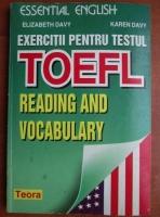 Elizabeth Davy - Exercitii pentru testul Toefl