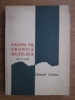 Emanoil Ciomac - Pagini de cronica muzicala (1915-1938)