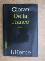 Emil Cioran - De la France