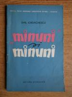 Anticariat: Emil Iordachescu - Minuni si minuni