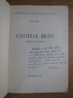Anticariat: Emil Micu - Castelul Bran (cu autograful autorului pentru Victor Eftimiu)