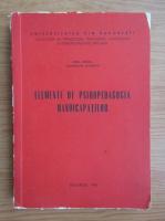 Emil Verza - Elemente de psihopedagogia handicapatilor